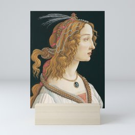 Sandro Botticelli, Idealized Portrait of a Lady, 1480 Mini Art Print