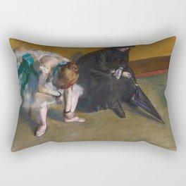 Edgar Degas - Waiting Rectangular Pillow