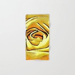 Golden Rose Flower Hand & Bath Towel