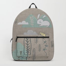Cute Bunny woodland #nursery #homedecor Backpack