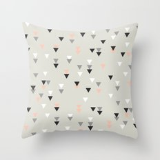 Pink Triangle Throw Pillow