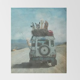 NEVER STOP EXPLORING II SUMMER EDITION Throw Blanket