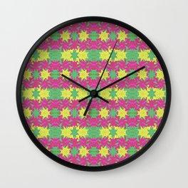 Colorful Stars Motif Pattern Design Wall Clock