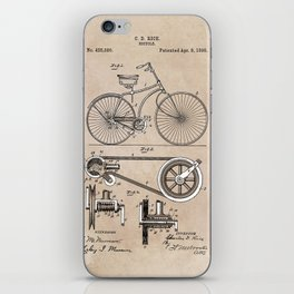 patent Bicycle 1890 Rice iPhone Skin