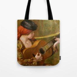 """Auguste Renoir """"Jeune Espagnole jouant de la guitare""""(Young Spanish Woman Playing a Guitar) Tote Bag"""