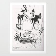 Mushroom Gypsy Art Print