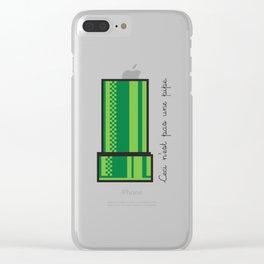 Ceci n'est pas une pipe Clear iPhone Case