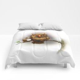 Caffeinated Owl Comforters