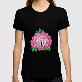 Womens Rose Vagina Womens Shirt Pussy Flower Pussies Vag Puss Gift T-shirt