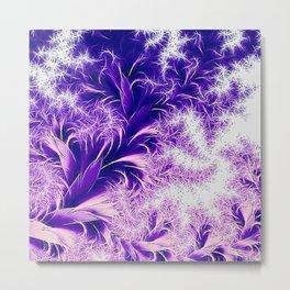 Fractal nature, purple pink Metal Print