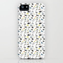 Multiple Helicopters Pattern iPhone Case