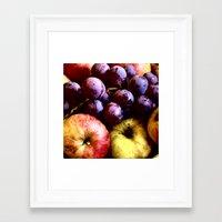 fruits Framed Art Prints featuring FRUITS by MehrFarbeimLeben