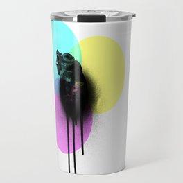 CMYK Bear Graffiti Poster Travel Mug
