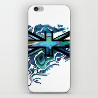 union jack iPhone & iPod Skins featuring Union Jack by Boz Designs