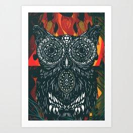 Forest Folk Art Print