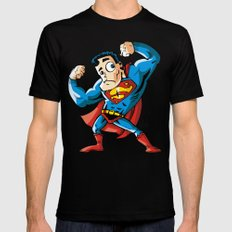 Strong man in Costume MEDIUM Black Mens Fitted Tee