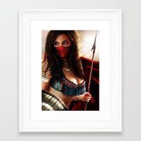 persian Framed Art Prints featuring Persian Warrior by Gerald Jelitto