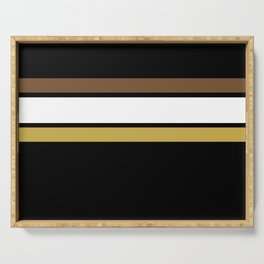 Team Colors 2... caramel, brown Serving Tray