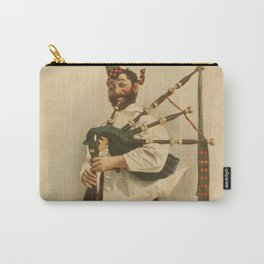 Vintage Illustration of a Scottish Bagpiper (1898) Carry-All Pouch