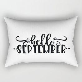Hello September Rectangular Pillow