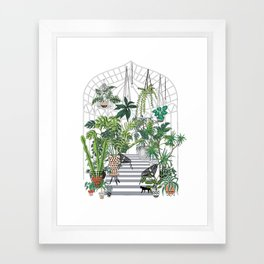 greenhouse illustration Framed Art Print