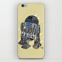 r2d2 iPhone & iPod Skins featuring R2D2 by Rebecca Bear