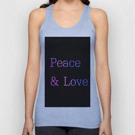 Peace & Love Unisex Tank Top