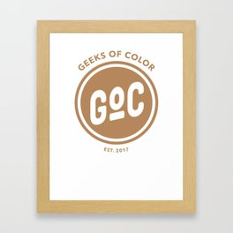 Caramel Geek of Color Framed Art Print