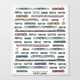 The Transit of Greater Portland Canvas Print