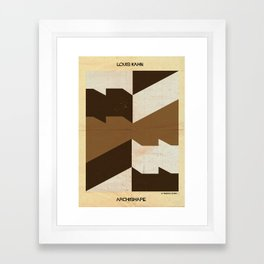 shape Louis Kahn Framed Art Print