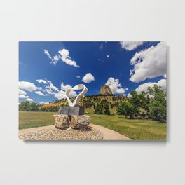 Circle of Sacred Smoke Devils Tower Metal Print