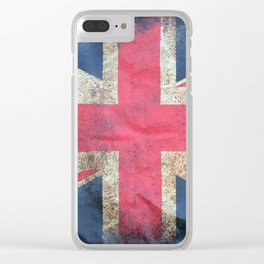 Tattered Flag Clear iPhone Case