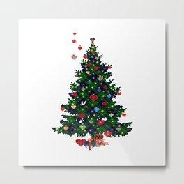 Plaid Christmas Tree Metal Print