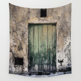 Green Door III Wall Tapestry