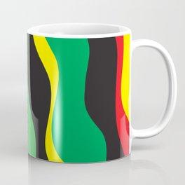 Red Yellow Green Black Rasta Wave Coffee Mug
