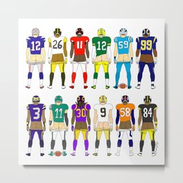 Football Butts Metal Print