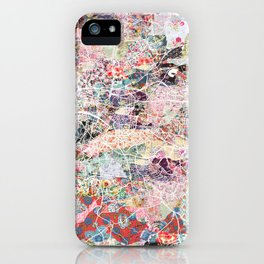 Glasgow map iPhone Case