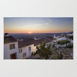 Marvao cottages at dawn, Portugal Rug