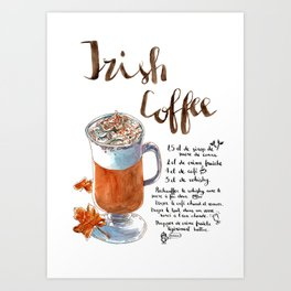 Irish Coffee Poster Art Print