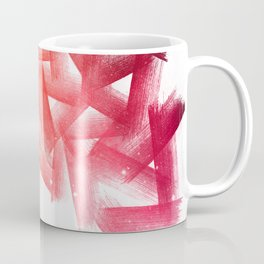 Red Cubical Abstraction Coffee Mug