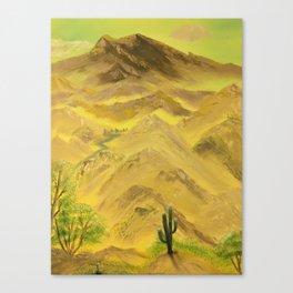Wonderful desert mountains Canvas Print