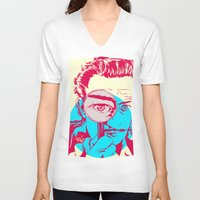 dali V-neck T-shirts featuring Dali   by Vee Ladwa