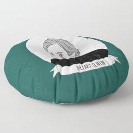 Hillary Clinton Illustrated Portrait Floor Pillow