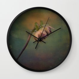 Once Upon a time a lonely flower Wall Clock