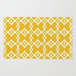 Yellow Chevron Diamond Pattern Rug