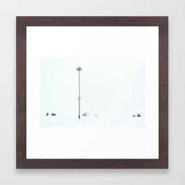 White 3 Framed Art Print