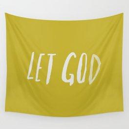 Let God x Mustard Wall Tapestry