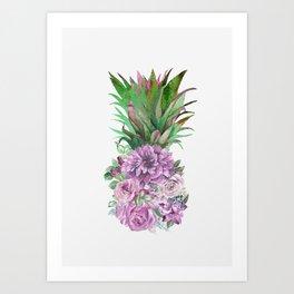 Floral Pineapple 1 Art Print