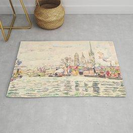 "Paul Signac ""River scene Rouen"" Rug"