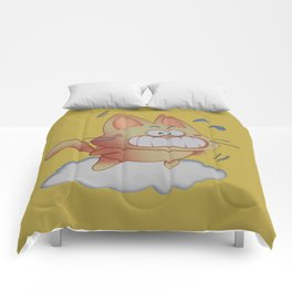 Pika Flying with clouds Comforters